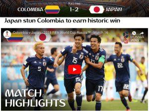 FIFA日本コロンビア勝利